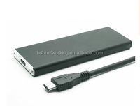USB3.1 Type C to 2.5inch NGFF M2 SSD portable external HDD enclosure, Speed up to 10Gbps