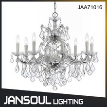 Jansoul CL/CE new design 9 candle lights clear crystal chanderlier for wedding decoration