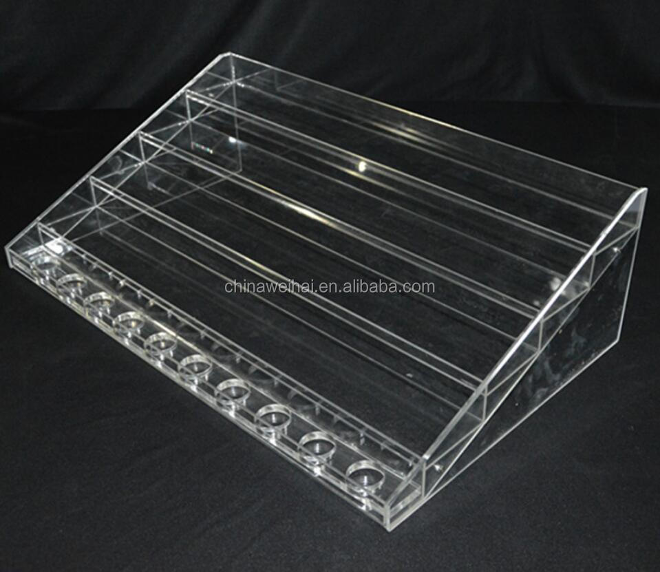 Clear Acrylic Lipstick Loreal Cosmetic Display Stand