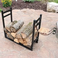 Outdoor Steel Indoor Wood Holder Firewood