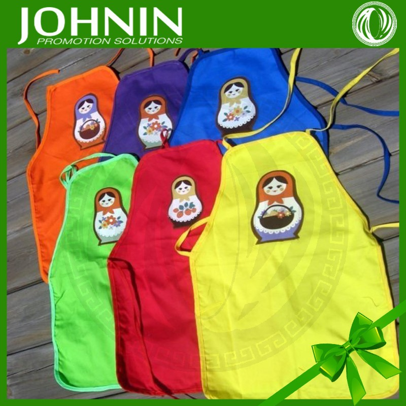 hot selling 100% cotton colorful kids russian apron