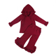Wholesale Children's Boutique Clothing Plain Ruffle Hoodie and Pants Matching Outfits Girls Winter Clothing Set