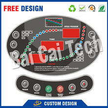 High Sensitily Control Silicone Rubber Waterproof Soft Self Adhesive Keypad Membrane Switch