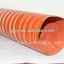Silicone coated high temperature resistant duct