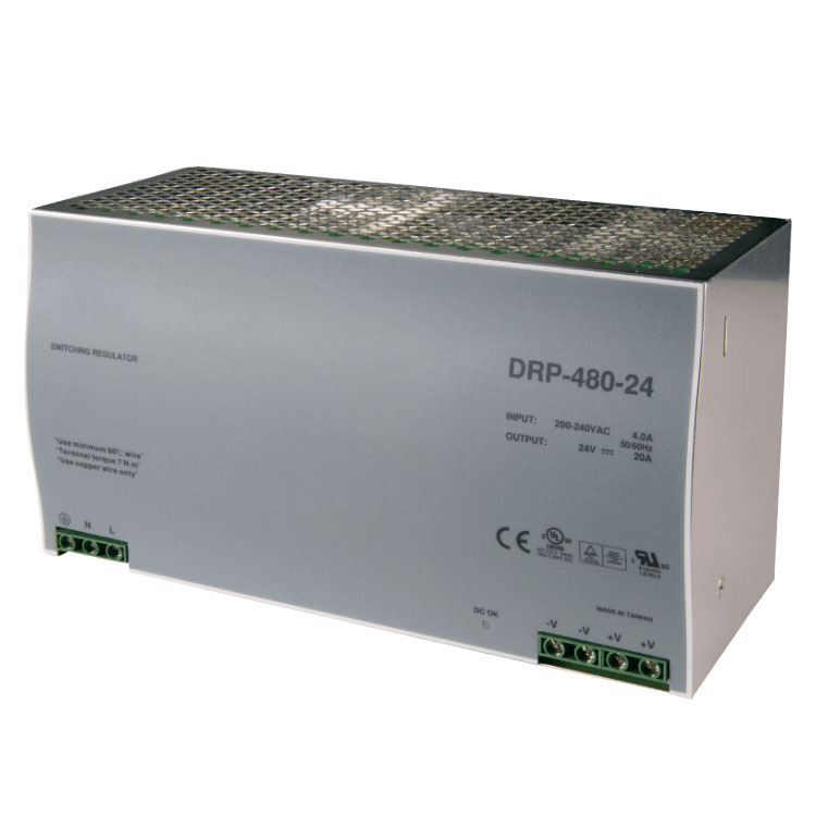 Factory <strong>source</strong> 480W 20A DRP-480-24 din rail LED driver with PFC