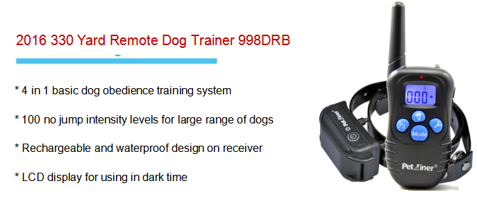 450m Remote Dog Training Collar Anti Bark Shocker, Peted Electric Waterproof Shock Dog Training Collar With Remoter Control