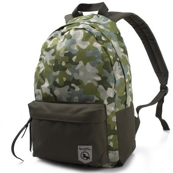 Green camo pattern backpack for school