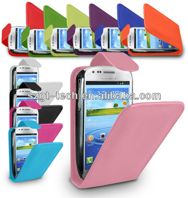 For S3 mini I8190 Top Flip PU Leather Case Covers