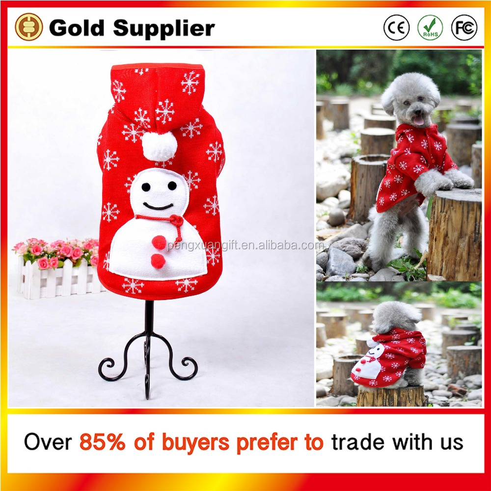 New Christmas Clothes For Dog Cute Snow Clothes for Dog Wholesale Dog Clothes Factory