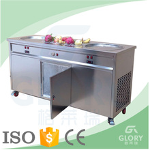 CE Cerificated Fried Ice Cream Maker Used in Food Cart Trailer/ Commercial Thai Stir Fried Ice Cream Machine