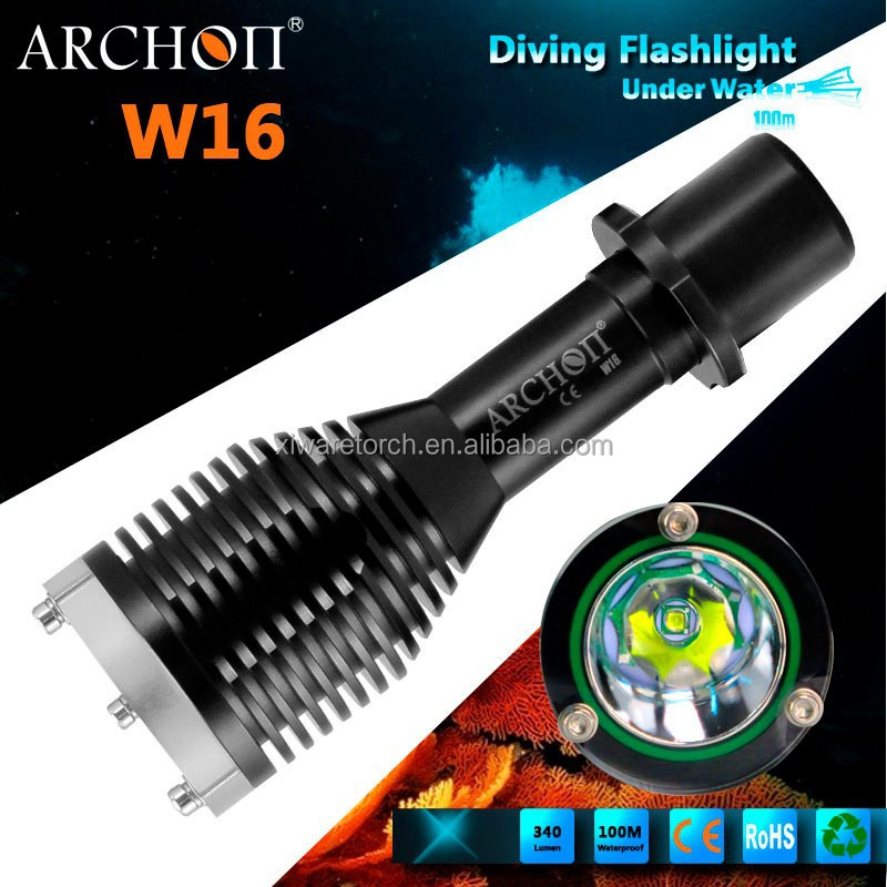 ARCHON New Design high brightness small cheap diving torch W16