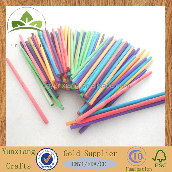 Colored wooden game sticks round wood stick