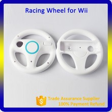 White Gaming Racing Wheel For Nintendo Wii Controller Remote Controller