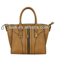 2014 hot selling latest design good genuine leather ladies casual handbag