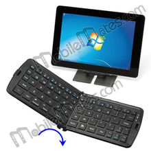 Mini Folding Bluetooth Wireless Keyboard Universal for iPhone5 iPad Samsung s4 Smart Phone Tablet PC etc with Stand Bracket
