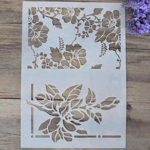 china Custom accepted PVC plastic stencils paper stencils