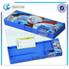Double faced big function large capacity 4 colors multifunctional stationery box pencil box