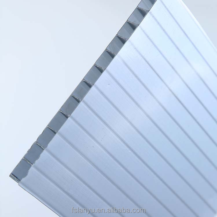 double wall 6mm polycarbonate twin wall hollow sheet