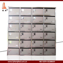 premium commercial apartment metal letter box inbox mail carton post office box cheap Wall Mount stainless steel mailbox