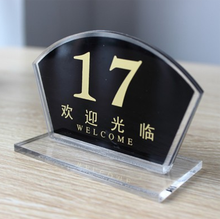 T07 Plastic Acrylic Tabletop Menu Display Stand,Tent Card Holder