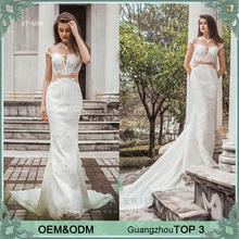 Sexy wedding dress China manufacturer high end bride dress heavy beaded wedding gown sheath bridal train dresses
