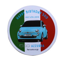 round car brand printed promo sticker magnets wholesale