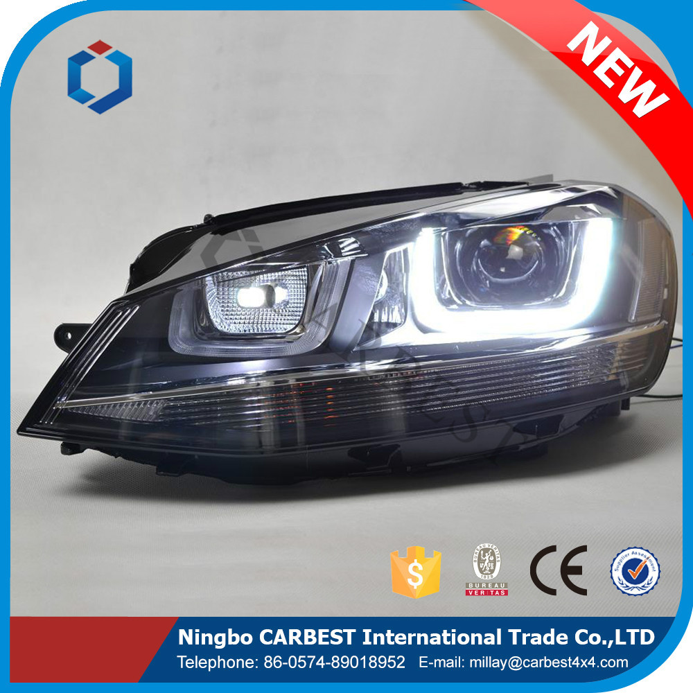 High Quality Auto Head Lamp Coming With Hid Xenon Bulb for VW Golf 7