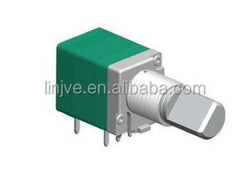Rotary potentiometer with on off switch for temperature controlled