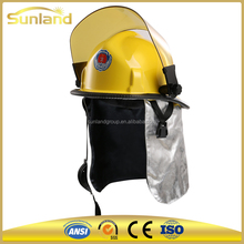 used fire helmet with head lamp protective hard hat for Fireman