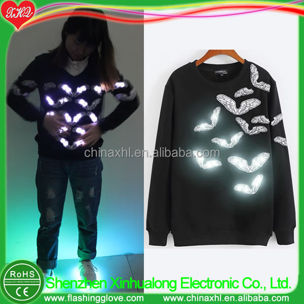 Light up wings pullover LED hoody