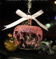 Hot sell apple shape crystal bell for Christmas car decoration