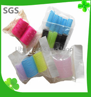 hot sell colorful hair roller meches/hair strap