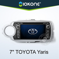 "2012 factory 7"" HD 2 din touch screen car radio toyota yaris with gps, TMC, camera, mic, dvb-t"
