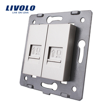 Manufacture Livolo Gray Wall Socket Accessory The Base of Computer Internet Socket Lan RJ45 / Outlet VL-C7-2C-15