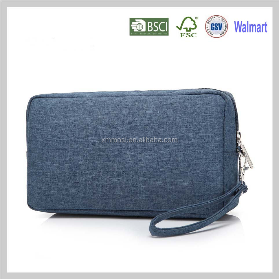 Blue polyester ladies' fashion custom min min handbag at low price