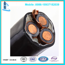 11KV NYFGbY copper conductor PVC insulated SWA PVC Sheated electrical cable size 240mm2