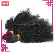 8A Grade Remy Hair Kinky Curly Chinese Bulk Hair For Wig Making