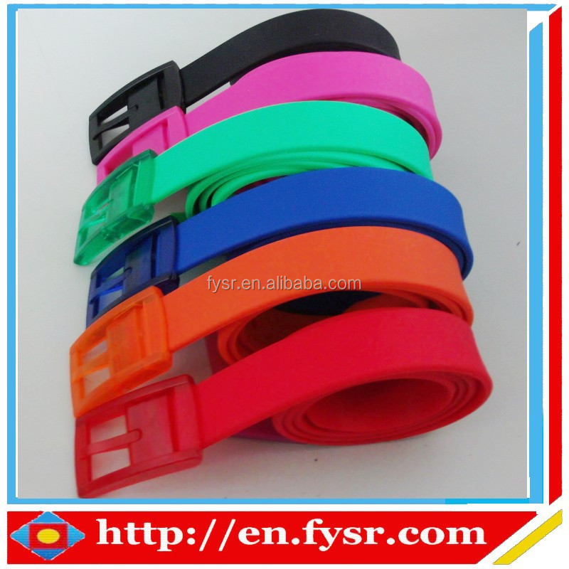 2015 China factory direct sale fashion silicone belt with buckle for men and women,golf belt