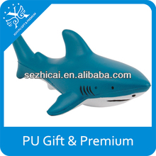 Custom made stress balls pu shark shape antistress ball shark toy animal shape promotional gift