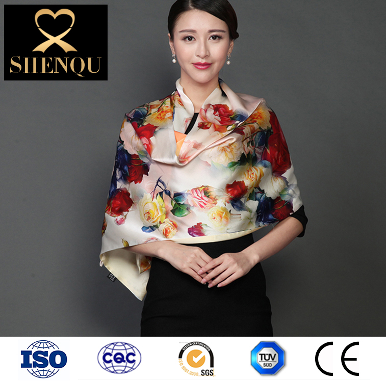 Two-Face Silk Pashmina Shawl Scarf with Buttons Shrug Scarf Vest Poncho Pretty Chiffon Evening Shawls Scarves