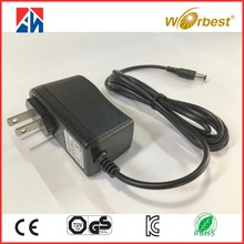 AC input 100-240v to dc output 12v 1000mA 12w universal power adapter