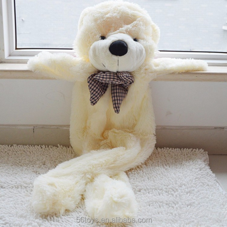 different size wholesale unstuffed plush animals bear skins