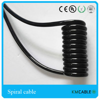 machine equipment coiled cord,machine spiral cable,PU curly cords