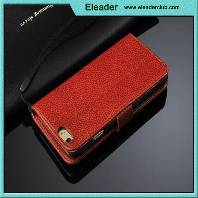 NEW Luxury Genuine Real Leather Flip Case Wallet Cover For iPhone 6 6plus