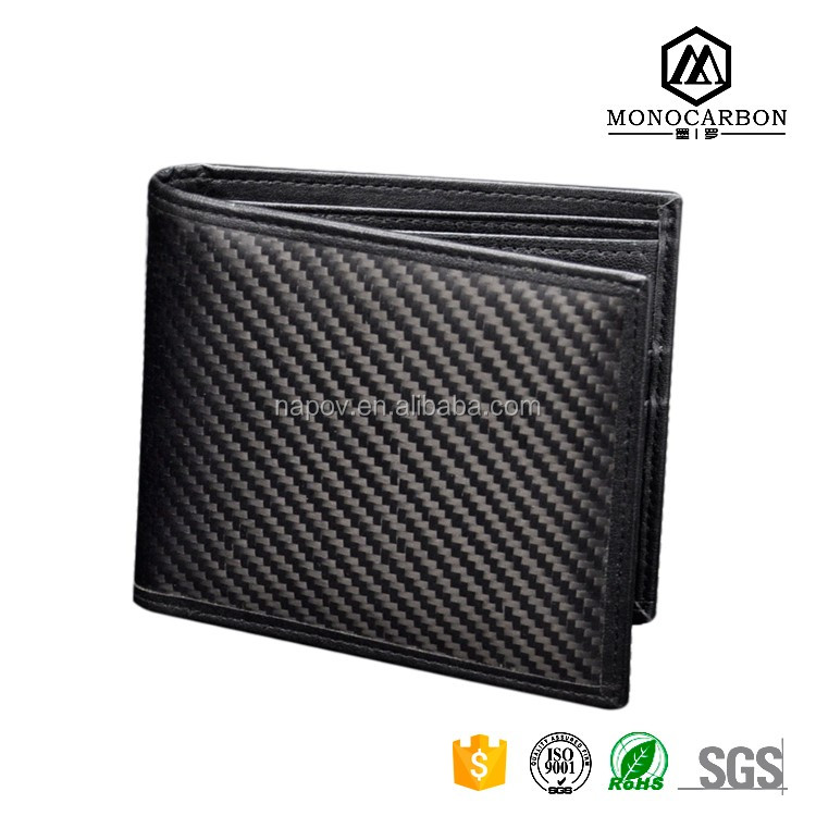Alibaba China Manufacturer Professional Carbon Fiber Men's Wallets Leather