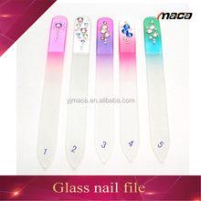 new products high quality manicure glass nail file with nail buffer