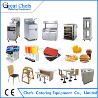 KFC McDonald style Fast food Restaurant Kitchen equipment for sales