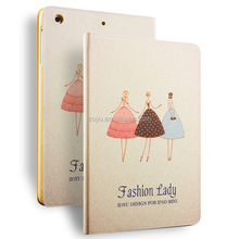 color printing pu leather case for ipad mini 1 2 3 warterproof