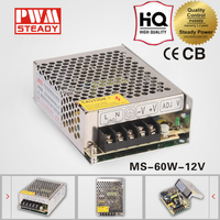 MS-60-12 CE approved dc 12 volt 5 amp switching power supply 60w 12v 5a