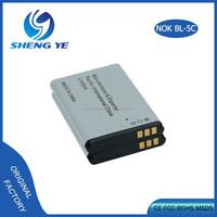 100% original BL-5C mobile phone battery for Nokia NGATE 1020mah 3.7v li-ion battery